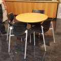 Keilhauer Also Black and Grey Stacking Guest Side Chair 3513