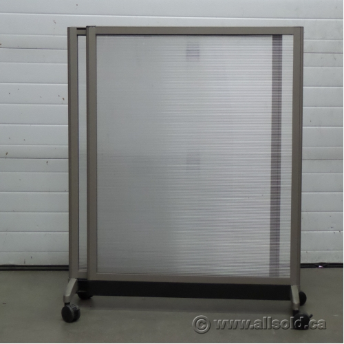 Teknion Expandable Rolling Translucent Panel Office Room Divider