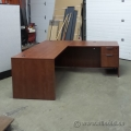 Autumn Maple Single Pedestal L Suite Desk