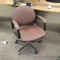 Rose Fabric Low Back Adjustable Task Chair with Arms