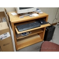 Blonde Student Desk Printer Stand with Pull Out Keyboard