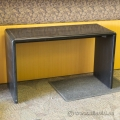 Espresso Hallway Sofa Table with Brass Accent