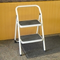 White Trican 2 Step Folding Step Stool