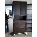 IKEA Espresso Wood Storage Cabinet, 2 Drawers, Enclosed Upper