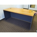 "Maple and Grey 71"" Bow Front Desk Shell"