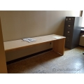 8' Blonde Open Knee Space Credenza Work Table