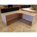 Blonde 72 x 72 L Suite Desk Shell (no pins)