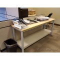 "Blonde 60"" Shallow Depth Utility Work Table"