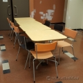 "Blonde 32"" Square Meeting / Lunchroom Table"