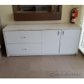 "Grey 72"" 2 Drawer 2 Door File / Storage Credenza"