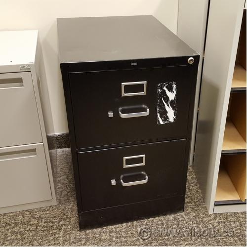 Hon Black 2 Drawer Legal Size Vertical File Cabinet Locking Allsold