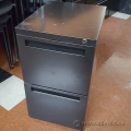 Inscape Black Rolling Mobile 2 Drawer File File Pedestal
