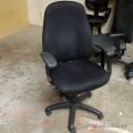 Black Adjustable Office Task Chair with Arms