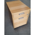 IKEA Galant Blonde 4 Drawer Rolling Pedestal w/ Combination Lock