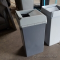 Grey High Capacity Garbage Can with Swing Top Lid