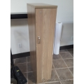 Light Ash Walnut Narrow Profile Wardrobe Storage Cabinet