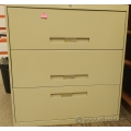 Sand 3 Drawer Lateral File Cabinet, Locking