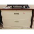 "Beige 42"" 2 Drawer Lateral File Cabinet, Locking"