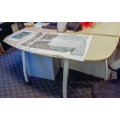 Teknion Blonde Mobile Height Adjustable Training Table Desk