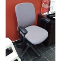 Grey Adjustable Task Chair with Fixed Arms