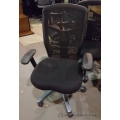 Black Fabric Mesh High Back Adjustable Rolling Task Chair