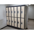 Beige and Grey 2 Tier Steel Lockers (Bank of 2 doors)