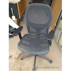 Black All Mesh Adjustable Task Chair