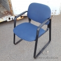 Blue Fabric Guest Chair w/ Rubber Arms