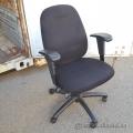 Flat Black Adjustable Task Chair