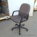 Grey Fabric Height Adjustable Rolling Task Chair