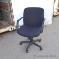 Black Fabric Height Adjustable Rolling Task Chair