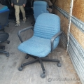 Blue Fabric Height Adjustable Rolling Task Chair