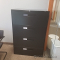Black Global 4 Drawer Lateral Storage Filing Cabinet, Locking