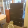 Meridian Black 5 Drawer Lateral Storage Filing Cabinet, Locking