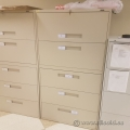 Global 5 Drawer Beige Lateral Storage Filing Cabinet