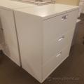 Hon Beige 3 Drawer Lateral Filing Cabinet, Locking
