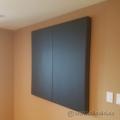 "Black 2 Door Enclosed Egan Board Whiteboard 48"" x 48"""