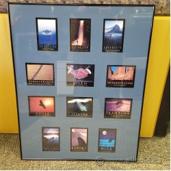 Framed Motivational Wall Picture w/ 12 Unique Poster Images