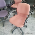 Coral Mid-back Steelcase Sensor Task Chair w/ Fixed Arms