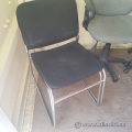 Black Fabric Chrome Base Stacking Guest Chair