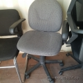 Grey Fabric Office Task Chair w/ Adjustable Arms