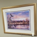 Canada Geese on Final Framed Wall Artwork Picture