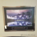 "Motivational Poster Framed Wall Artwork ""Leadership"""