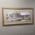 Elk at the Pond Framed Wall Artwork