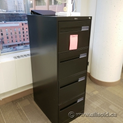 Global Black 4 Drawer Vertical File Cabinet, Locking