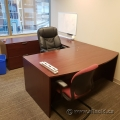 U/C Suite Bow Front Desk w/ Box/Box/File Ped & Lateral Cabinet