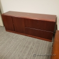 Autumn Maple 2 Door, 2 Drawer Storage Credenza Cabinet, Locking