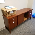 Autumn Maple 4 Drawer, 2 Sliding Door File Storage Credenza