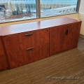 Autumn Maple 2 Door, 2 Drawer Storage Cabinet Credenza, Locking