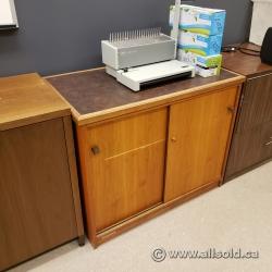 2 Door Sliding Door Storage Cabinet with Grey Top, Locking